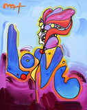 "Peter Max- Original Mixed Media Acrylic Painting on Canvas ""Love"""