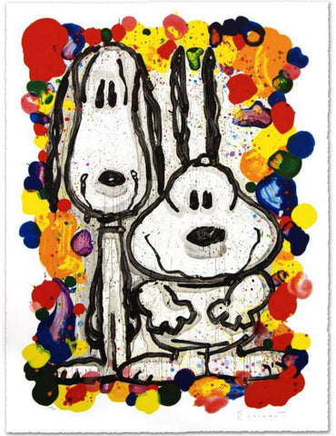 "Tom Everhart- Hand Pulled Original Lithograph ""Wait Watchers"""