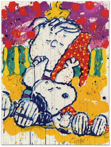 "Tom Everhart- Hand Pulled Original Lithograph ""Who Placed the Wake Up Call"""