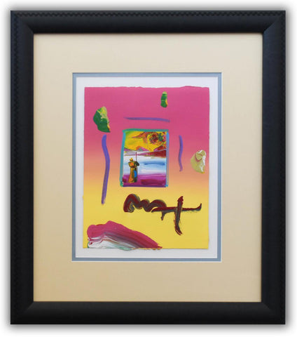 "Peter Max- Original Mixed Media ""Sage and Profile 2005 Ver. I #134"""
