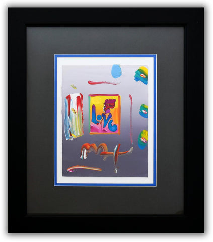 "Peter Max- Original Mixed Media ""Love 2005 Ver. I #146"""