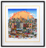 "Charles Fazzino- 3D Construction Silkscreen Serigraph ""Get A Taste of the World in N.Y.C"""