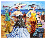 "Patricia Govezensky- Original Acrylic on Canvas ""Beach wedding"""