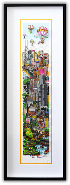 "Charles Fazzino- 3D Construction Silkscreen Serigraph ""A DEEP DISH PIE…IN CHI-TOWN"""