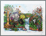 "Charles Fazzino- 3D Construction Silkscreen Serigraph ""The Serenity Of The Wildlife"""