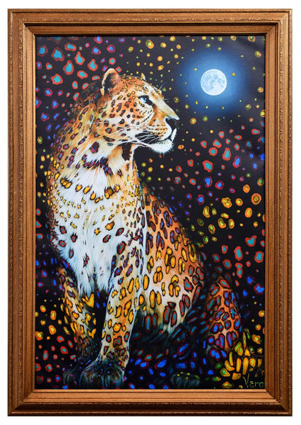 "Vera V. Goncharenko- Original Giclee on Canvas ""Looking At The Moon"""