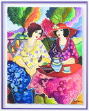 "Patricia Govezensky- Original Watercolor ""Ruth & Sarah"""