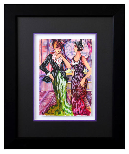 "Patricia Govezensky- Original Watercolor ""Dylla & Jennifer"""