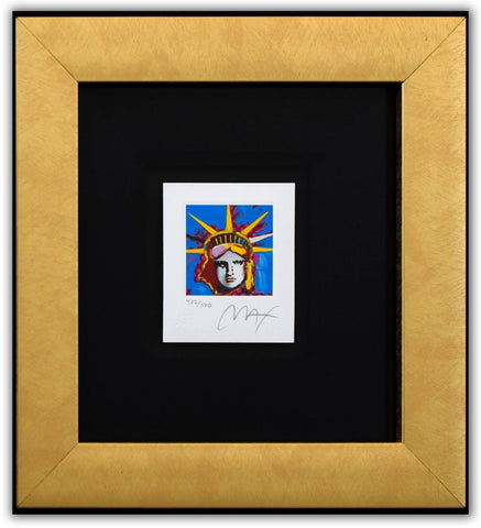 "Peter Max- Original Lithograph ""Liberty Head I (Mini)"""