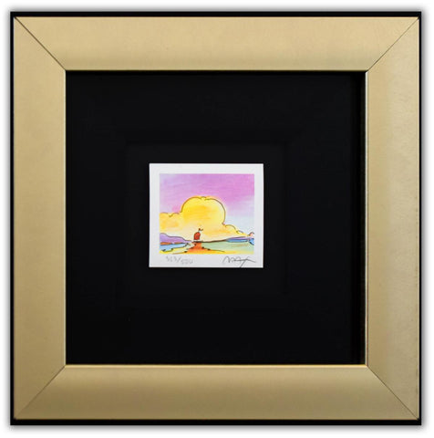 "Peter Max- Original Lithograph ""Sailboat on the Horizon (Mini Series)"""