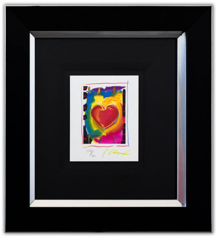 "Peter Max- Original Lithograph ""Heart Series I"""
