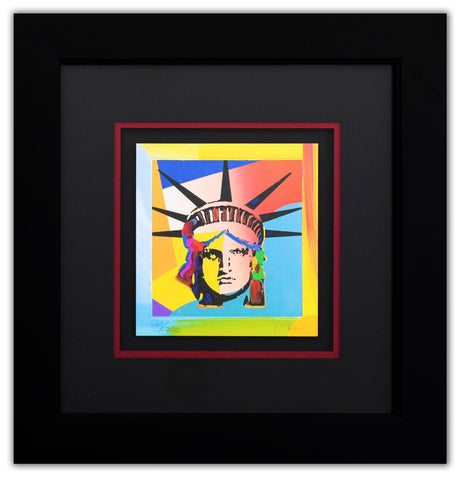 "Peter Max- Original Lithograph ""Liberty Head X (Mini)"""