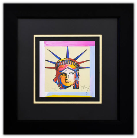 "Peter Max- Original Lithograph ""Liberty Head XV (Mini)"""