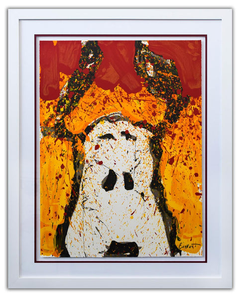 "Tom Everhart- Hand Pulled Original Lithograph ""Watchdog Noon"""