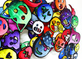 "Patricia Govezensky- Original Painting on Cutout Steel ""Emoji"""