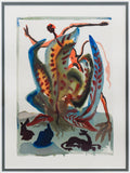 "Salvador Dali- Original Color Woodcut on B.F.K. Rives Paper ""Purgatory 23"""