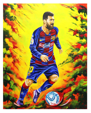 "Dimitry Turchinsky- Original Oil on Canvas ""Lionel Messi"""