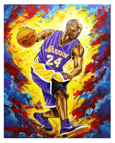 "Dimitry Turchinsky- Original Oil on Canvas ""Kobe Bryant"""