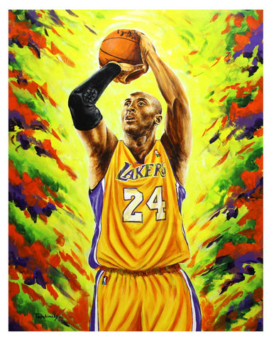 "Dimitry Turchinsky- Original Oil on Canvas ""Mamba Out"""