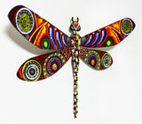 "Patricia Govezensky- Original Painting on Cutout Steel ""Dragonfly XLIX"""