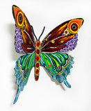 "Patricia Govezensky- Original Painting on Cutout Steel ""Butterfly CCLXXVIII"""