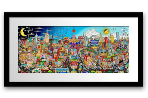 "Charles Fazzino- 3D Construction Silkscreen Serigraph ""NIGHT OR DAY…FEEL THE RHYTHM OF BROADWAY"""