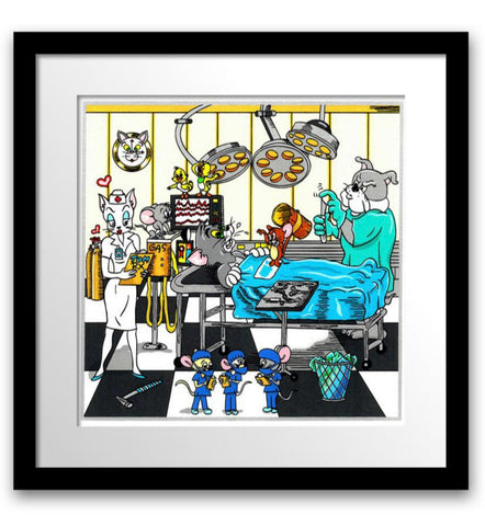"Charles Fazzino- 3D Construction Silkscreen Serigraph ""Tom & Jerry's Surgical CATastrophe"""