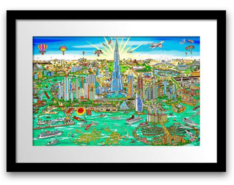 "Charles Fazzino- 3D Construction Silkscreen Serigraph ""THE WONDERS OF DUBAI"""