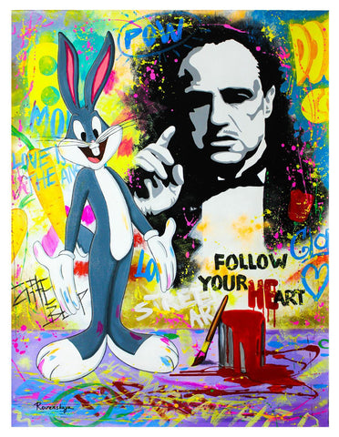 "Nastya Rovenskaya- Original Oil on Canvas ""The Godfather"""