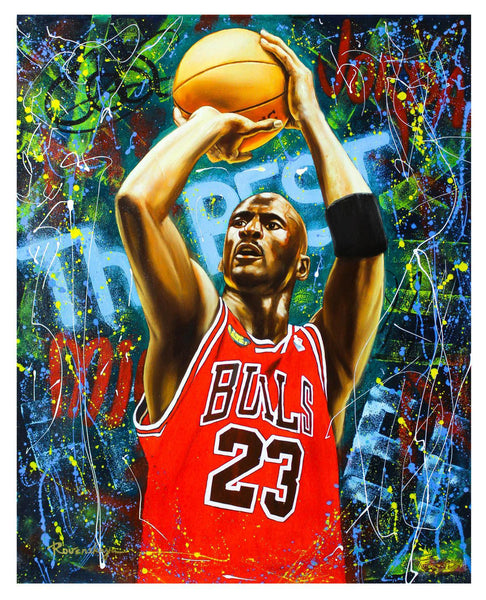 "Nastya Rovenskaya- Original Oil on Canvas ""Michael Jordan"""