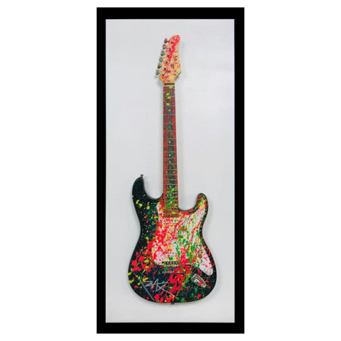 "E.M. Zax- One-of-a-Kind hand ainted electric guitar ""Guitar"""