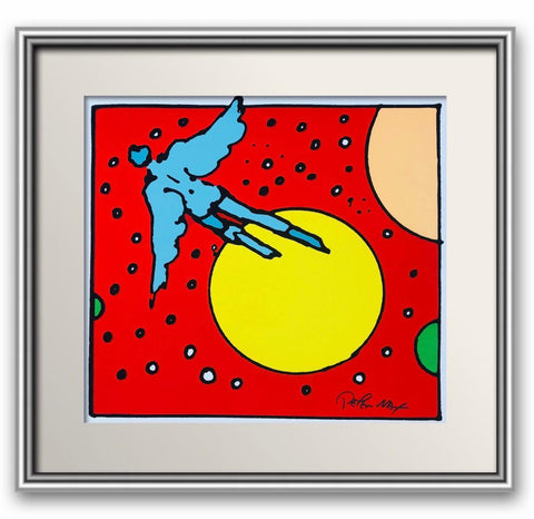 "Peter Max- Original Vintage hand pulled Serigraph on paper  ""Untitled"""