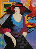 "Patricia Govezensky- Original Serigraph on Canvas ""Amanda"""
