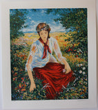 "Igor Semeko- Original Serigraph on Paper ""Peaceful Moments"""