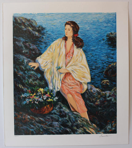"Igor Semeko- Original Serigraph on Paper ""Beauty by the Seaside"""