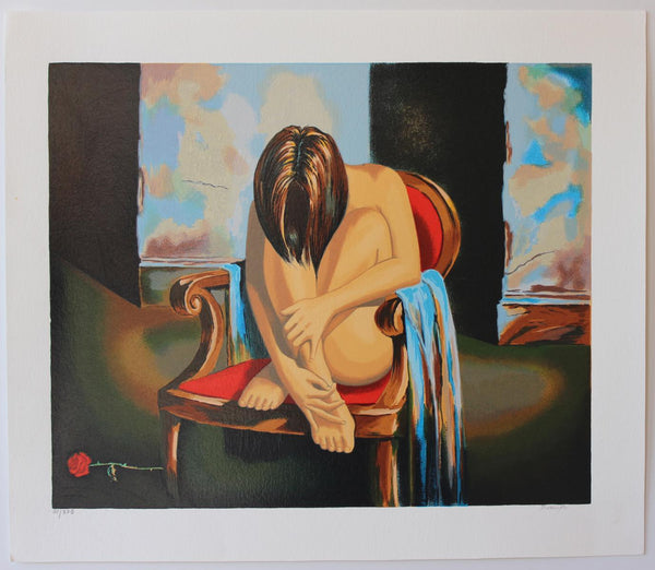 "Alexander Borewko- Original Serigraph on Paper ""Sensual Moments"""