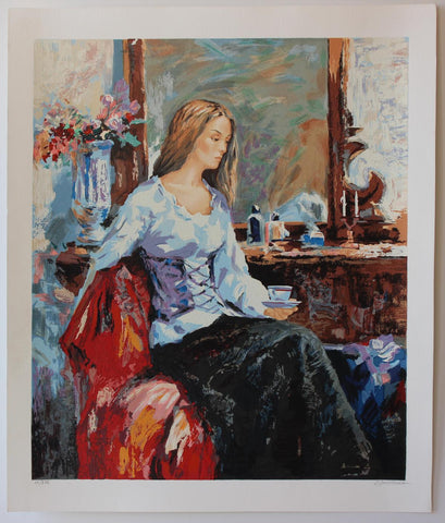 "Sergey Ignatenko- Original Serigraph on Paper ""Long Day"""