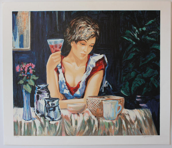 "Sergey Ignatenko- Original Serigraph on Paper ""Thinking of You """