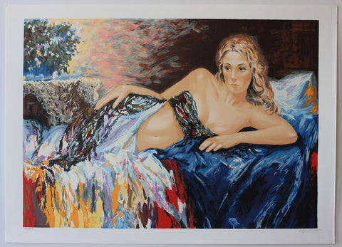 "Sergey Ignatenko- Original Serigraph on Paper ""Relaxation"""