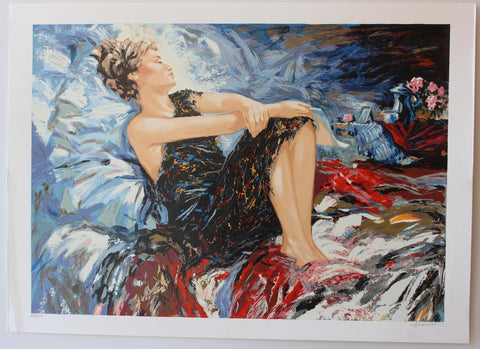 "Sergey Ignatenko- Original Serigraph on Paper ""Sleeping Beauty"""