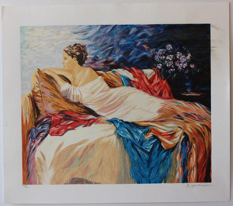 "Sergey Ignatenko- Original Serigraph on Paper ""Mary"""