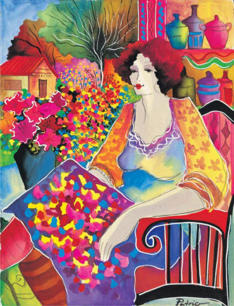 Patricia Govezensky- Lady With Flower View