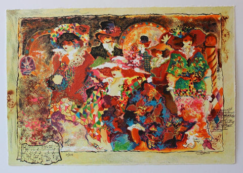 "Sergey Kovrigo- Set of 6 Serigraph on Paper ""Rendezvous, Friendship, Pleasures, Red Bouquet, Wine and Roses, Sunshine Roses"""