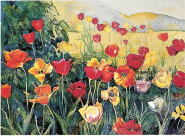 "Perla Fox- Original Serigraph ""Tulips"""