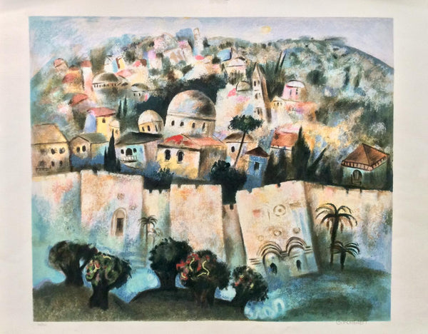 "Gregory Kohelet- Original Serigraph ""Sunrise in Jerusalem"""