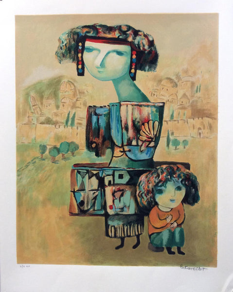 "Gregory Kohelet- Original Serigraph ""Motherhood"""