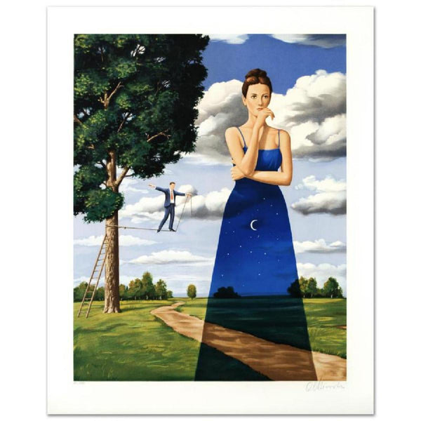 "Rafal Olbinski- Hand Pulled Original Lithograph ""Midsummer Marriage"""