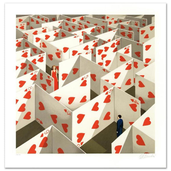 "Rafal Olbinski- Hand Pulled Original Lithograph ""Illusive Specificity of Random Compliments"""