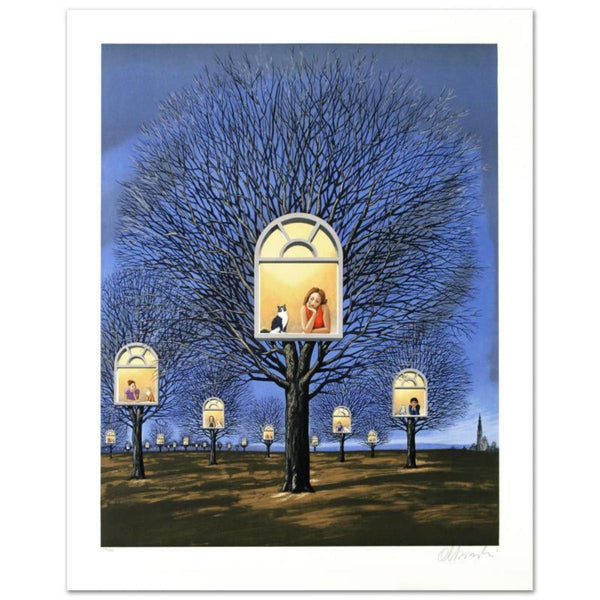 "Rafal Olbinski- Hand Pulled Original Lithograph ""Suspended Promises"""