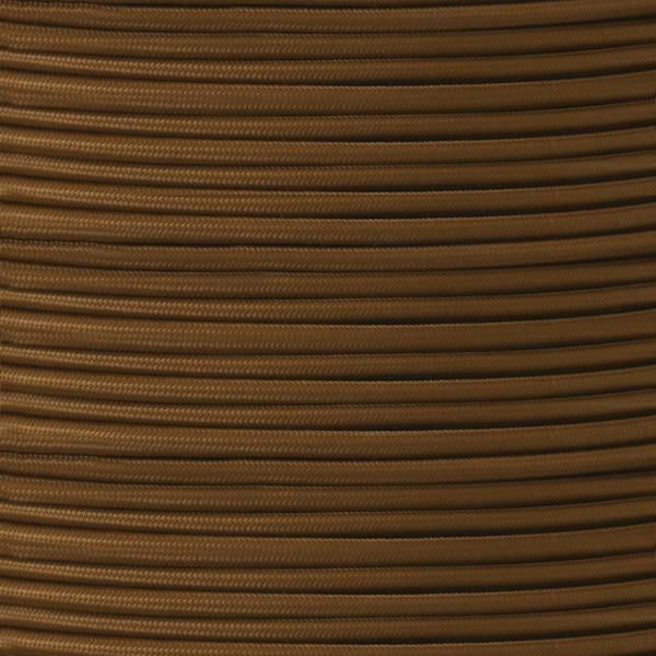 3 CORE BROWN ROUND BRAIDED FLEXIBLE CABLE